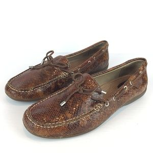 Sperry Top-sider snake skin print loafers 9.5M